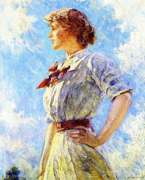 Against The Sky By Robert Lewis Reid