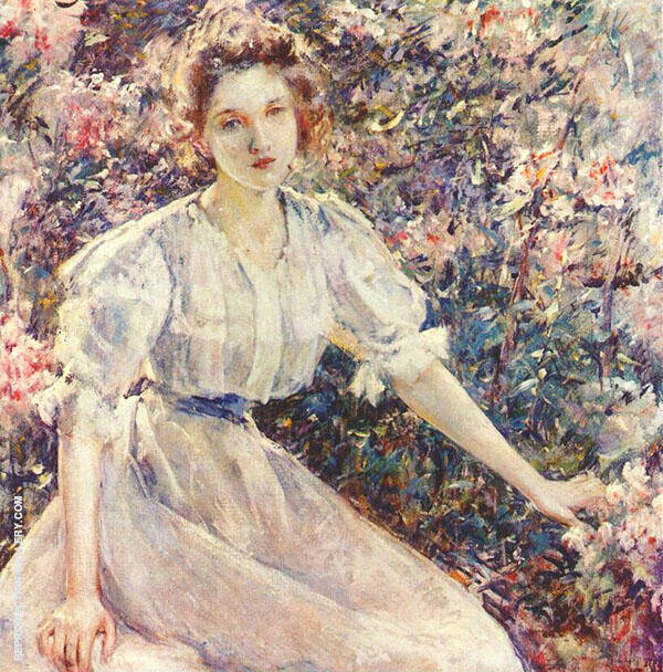 Azaleas By Robert Lewis Reid