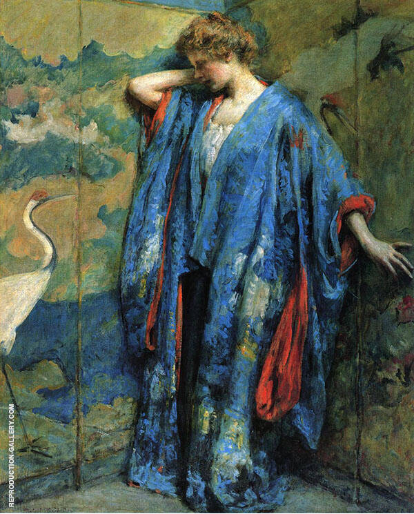 Blue And Yellow By Robert Lewis Reid