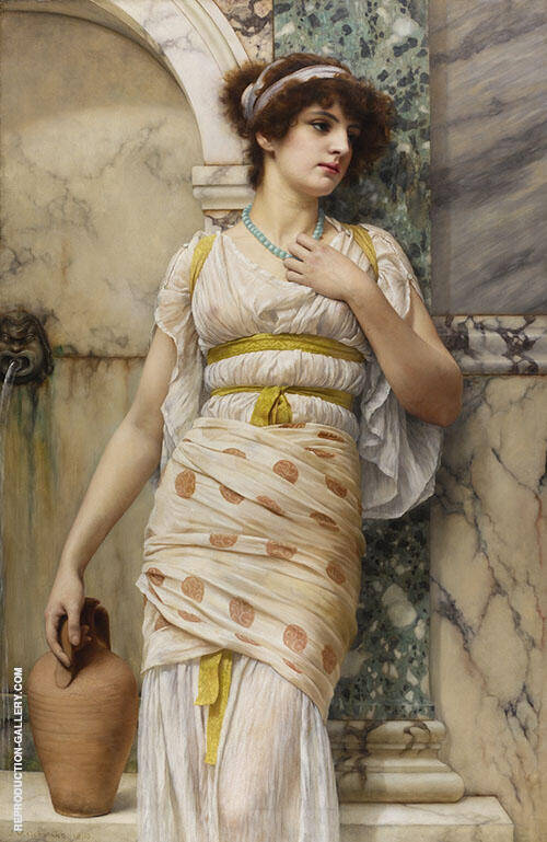 At the Fountain 1893 By John William Godward