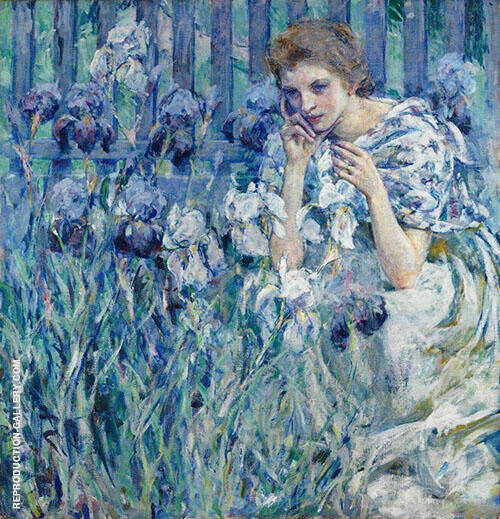 Fleur De Lis Painting By Robert Lewis Reid - Reproduction Gallery