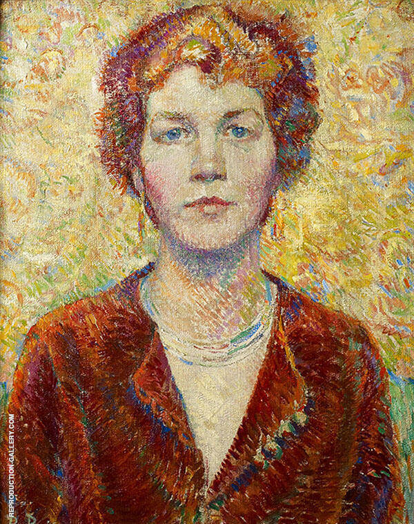 Portrait of a Woman 1920 Painting By Robert Lewis Reid