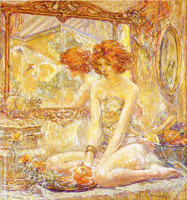 Reflections 1911 Painting By Robert Lewis Reid - Reproduction Gallery