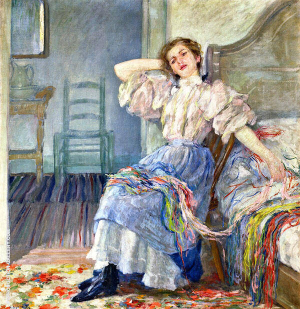 Reminiscing Painting By Robert Lewis Reid - Reproduction Gallery