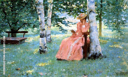 Reverie By Robert Lewis Reid Replica Paintings on Canvas - Reproduction Gallery