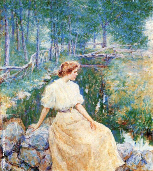 Spring 1906 By Robert Lewis Reid Replica Paintings on Canvas - Reproduction Gallery