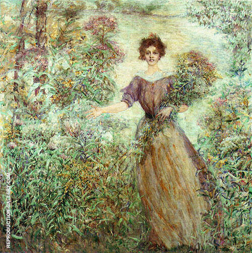 Spring Bouquet Painting By Robert Lewis Reid - Reproduction Gallery