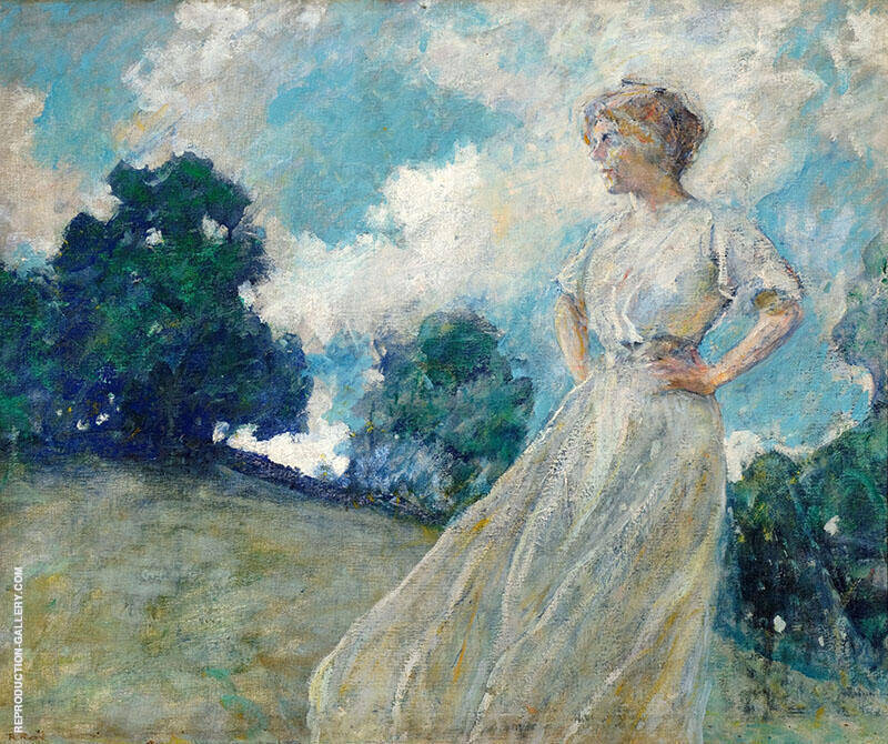 Summer Breezes 1910 Painting By Robert Lewis Reid - Reproduction Gallery