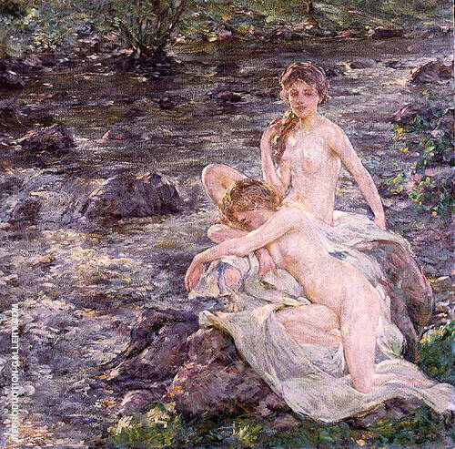 The Bathers Painting By Robert Lewis Reid - Reproduction Gallery