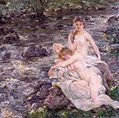 The Bathers By Robert Lewis Reid