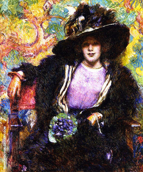 The Furs 1911 Painting By Robert Lewis Reid - Reproduction Gallery