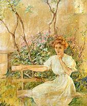 The Garden Seat 1911 By Robert Lewis Reid