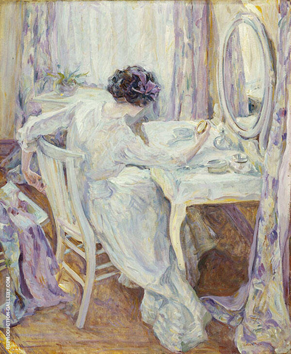 The Miniature 1912 Painting By Robert Lewis Reid - Reproduction Gallery
