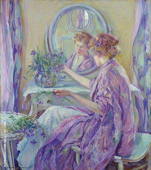 The Violet Kimono 1911 Painting By Robert Lewis Reid