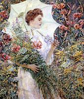 The White Parasol By Robert Lewis Reid