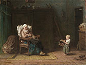 Convalescent Mother and Child 1871 By Jozef Israels