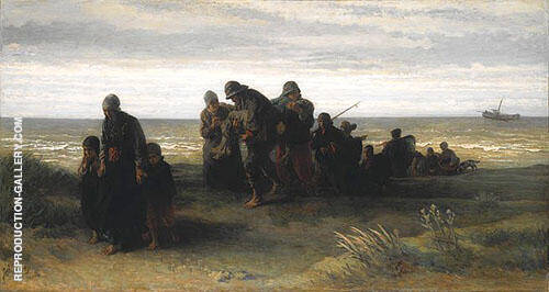 Fishermen Carrying Drowned Man Painting By Jozef Israels
