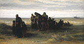 Fishermen Carrying Drowned Man By Jozef Israels
