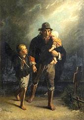 Langs Moeders Graf 1856 By Jozef Israels