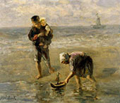 Launching The Boat By Jozef Israels