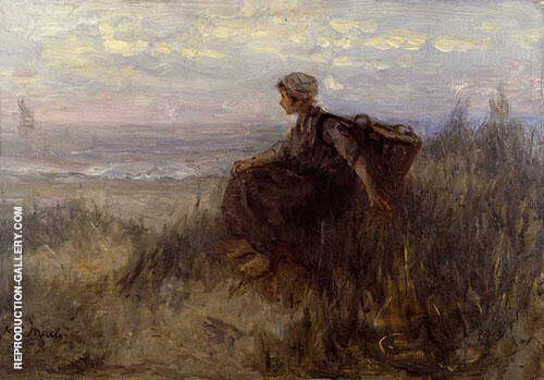 OnThe Dunes Painting By Jozef Israels - Reproduction Gallery