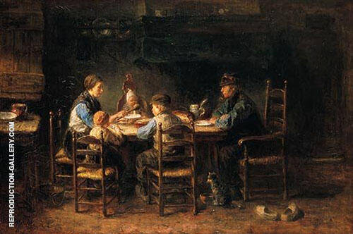 Peasant Family at Table 1882 By Jozef Israels