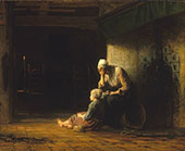 The Day Before Parting 1862 By Jozef Israels