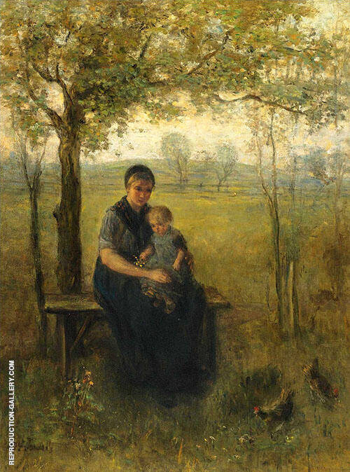 The Madonna of Drenthe Painting By Jozef Israels - Reproduction Gallery