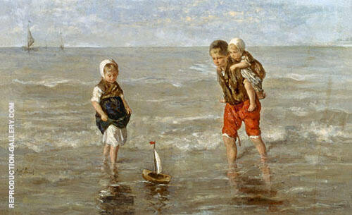The Toy Boat By Jozef Israels