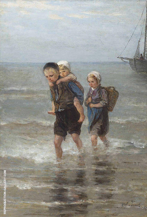 Children in The Breakers By Jozef Israels