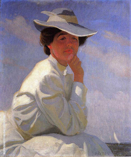 In The Sunlight Portrait of The Artist's Wife 1908 By William M Paxton