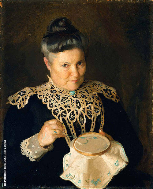 Portrait of The Artist's Mother (Rose-Paxton) 1902 By William M Paxton