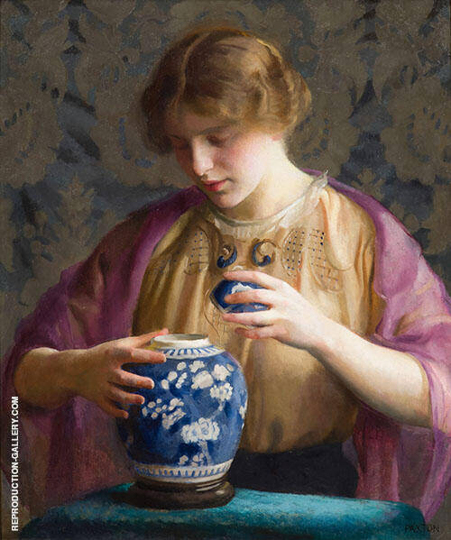 The Blue Jar Painting By William M Paxton - Reproduction Gallery