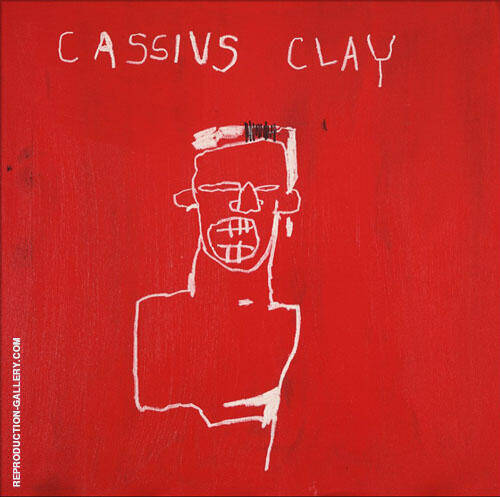 Cassius Clay By Jean-Michel-Basquiat