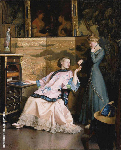The New Necklace 1910 By William M Paxton