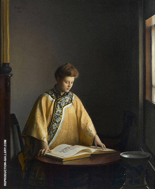 The Yellow Jacket 1907 Painting By William M Paxton - Reproduction Gallery