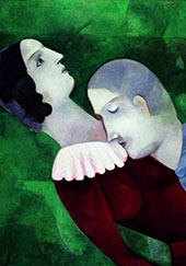 Les Amoureux Vert By Marc Chagall