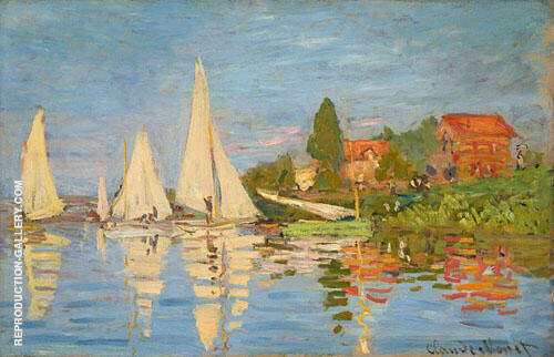 Regatta-at Argenteuil c1872 By Claude Monet Replica Paintings on Canvas - Reproduction Gallery