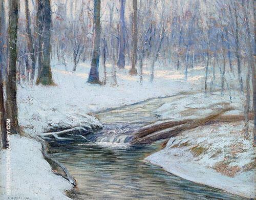 A Brook in Winter By Edward Willis Redfield