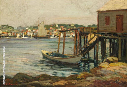Boothbay Harbor 1904 By Edward Willis Redfield