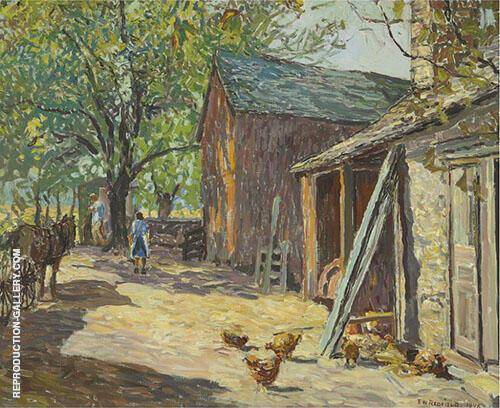 Carversville Farm 1946 By Edward Willis Redfield