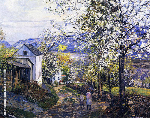 Cherry Blossoms By Edward Willis Redfield