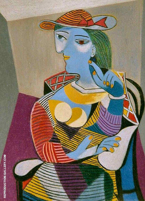 Seated Woman 1937 Painting By Pablo Picasso - Reproduction Gallery
