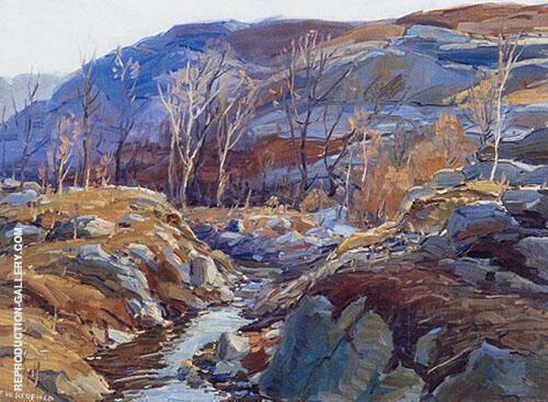 Maine Winterscape By Edward Willis Redfield