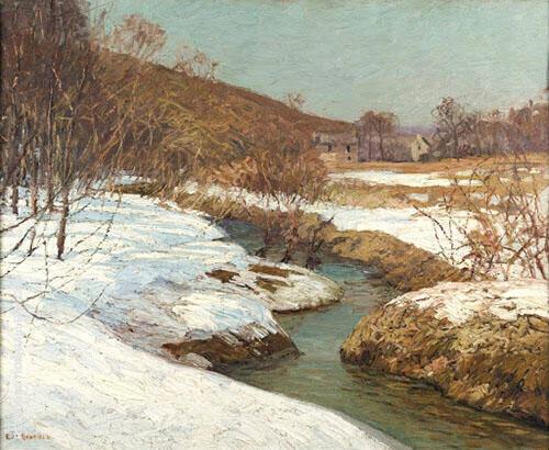Meadow Brook 1918 By Edward Willis Redfield