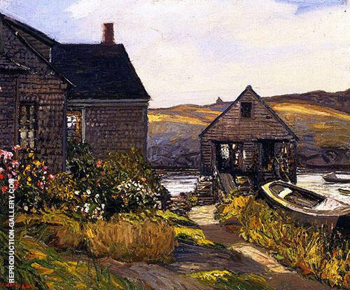 Monhegan Home By Edward Willis Redfield