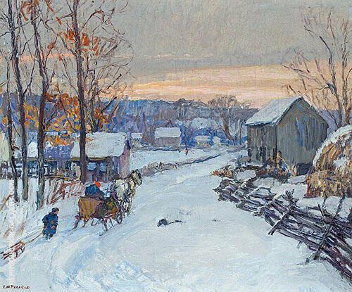 Sleigh Days 1917 By Edward Willis Redfield