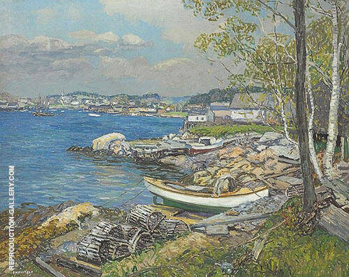 Spring in The Harbor 1927 By Edward Willis Redfield
