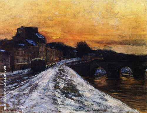 The Bridge at Joinville By Edward Willis Redfield