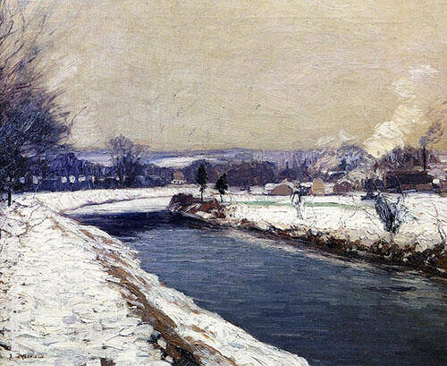 The Canal Stockton By Edward Willis Redfield